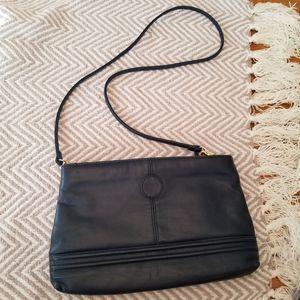 Navy Blue Convertible Crossbody/Clutch Bag